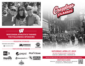 Crazylegs Classic 2019 Brochure with Photos of Race Participants and Sponsors